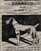 Deutsches Airedale-Terrier-Stammbuch, Band V, 1910