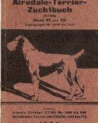 Deutsches Airedale-Terrier-Zuchtbuch, Band XI und XII, 1922