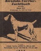 Deutsches Airedale-Terrier-Stammbuch, Band XIII, 1923