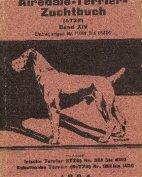 Deutsches Airedale-Terrier-Zuchtbuch, Band XIV, 1924