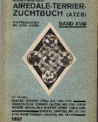 Deutsches Airedale-Terrier-Zuchtbuch, Band XVIII, 1927