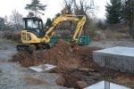 Aushubarbeiten Grundstückszufahrt