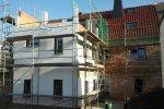 Wohnhaus während der Sanierung
