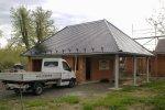 Garage mit Carport